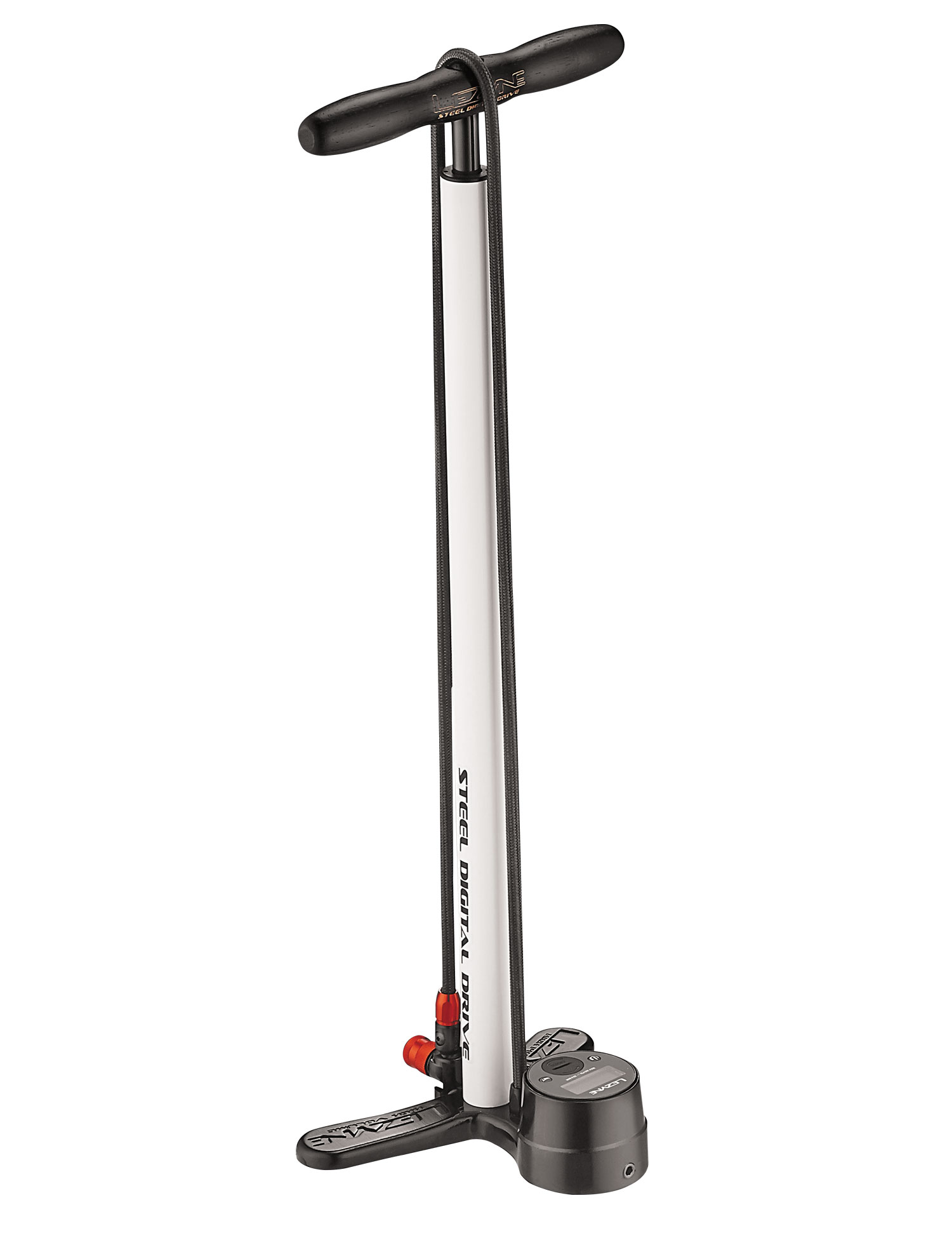 hustilka Lezyne Steel Digital Floor Drive white