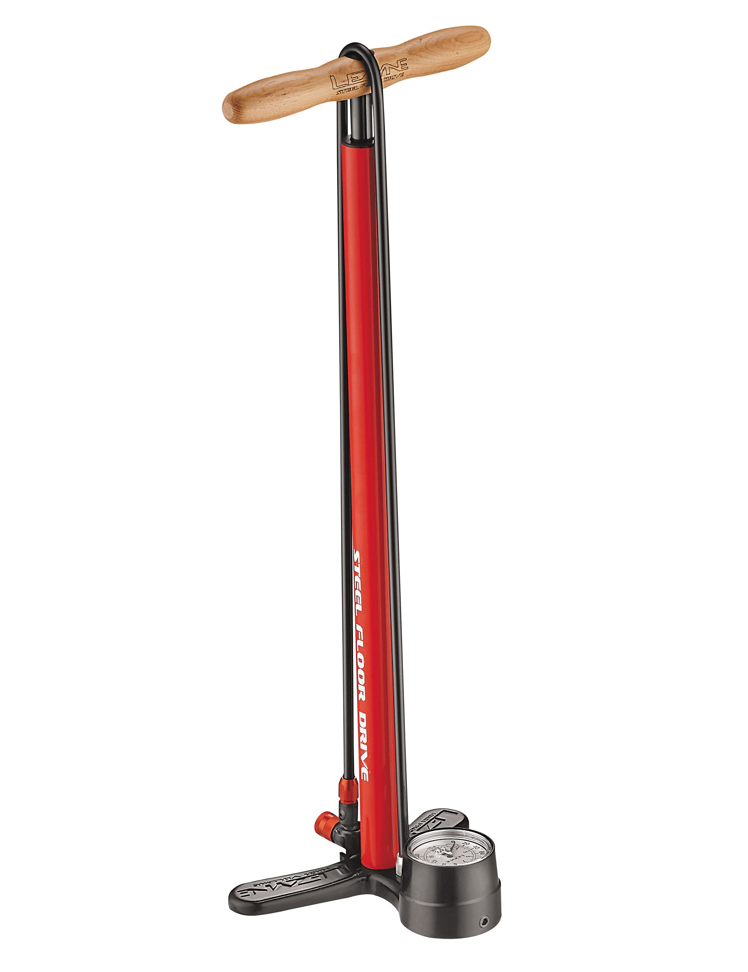 hustilka Lezyne Steel Floor Drive red