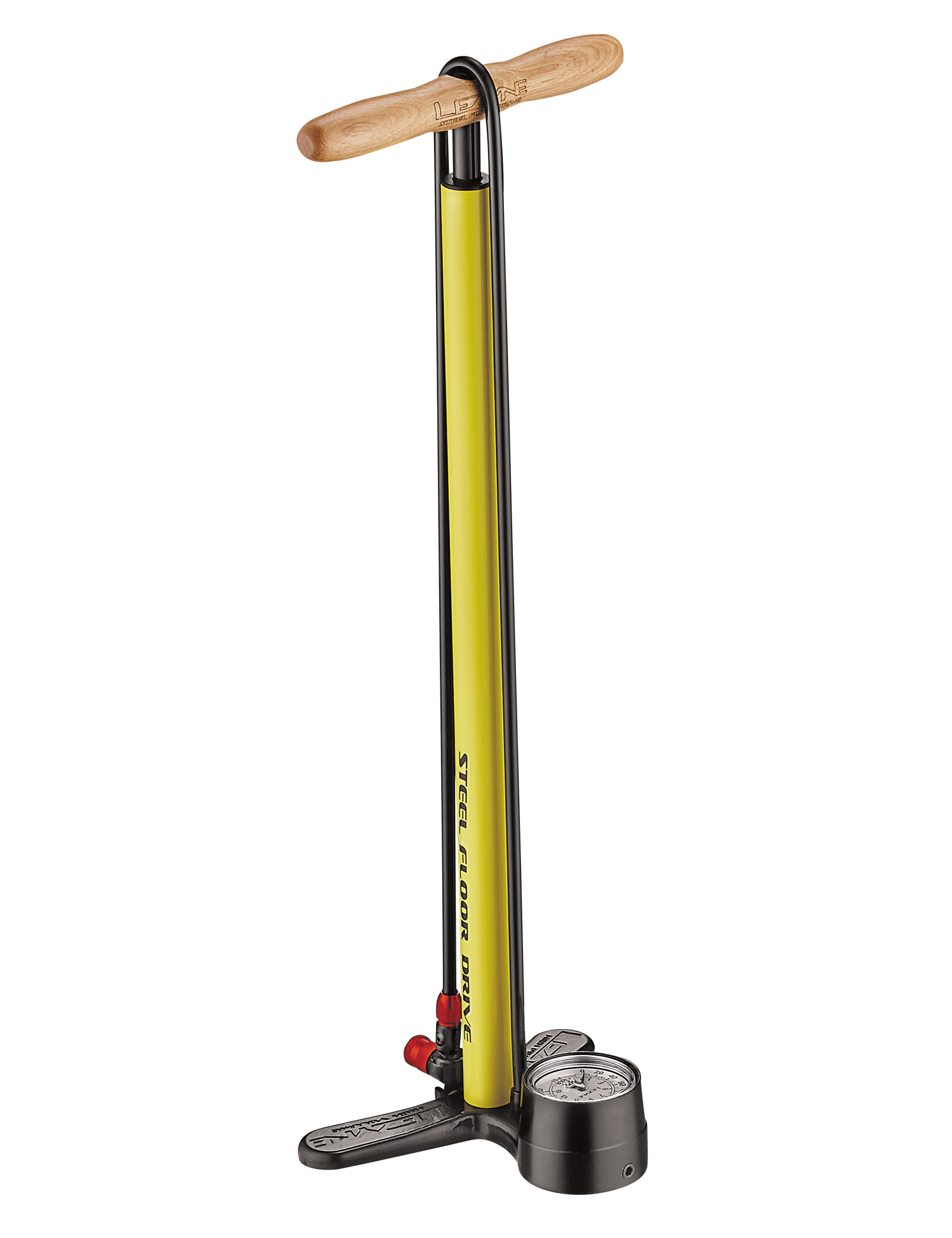hustilka Lezyne Steel Floor Drive yellow