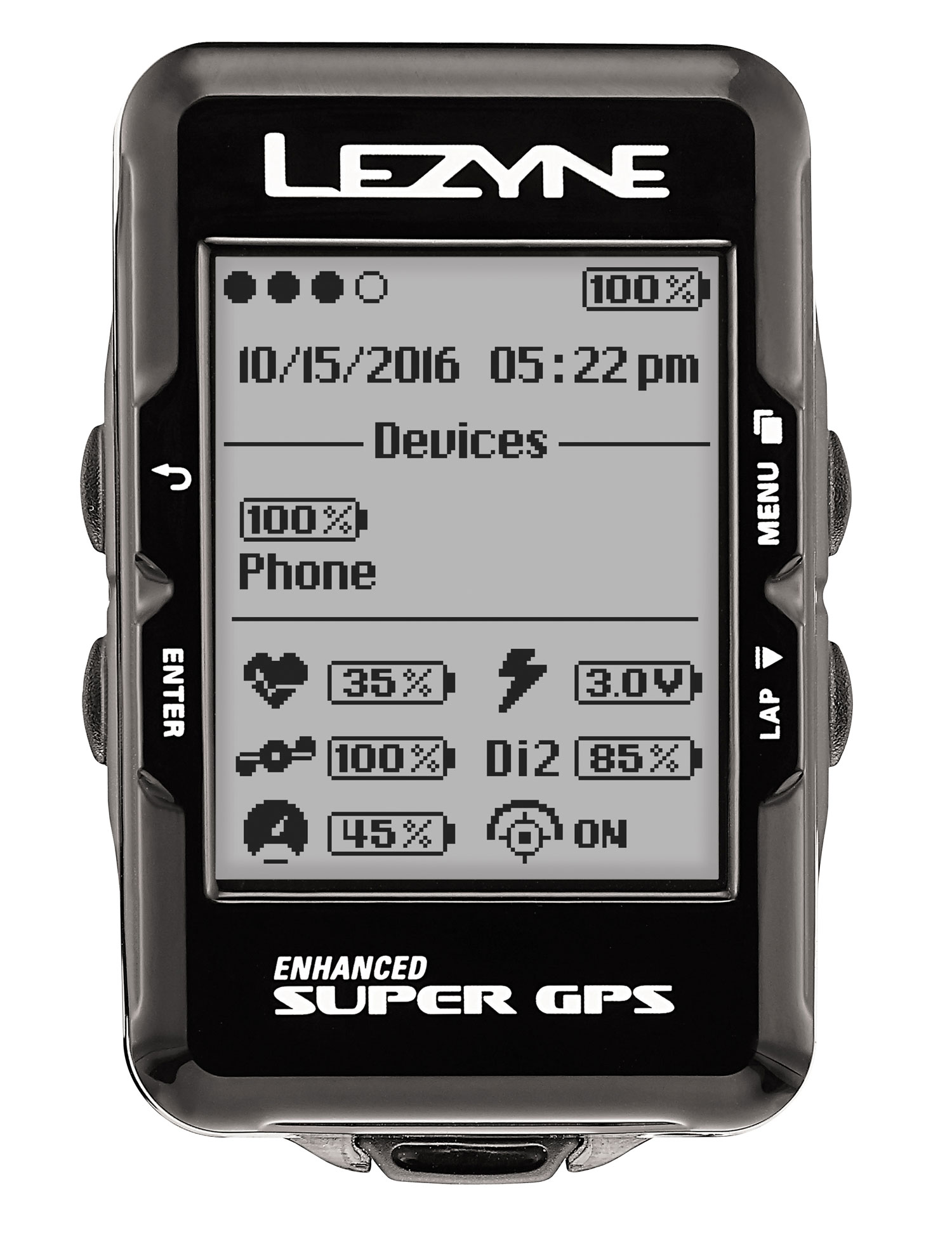 navigace Lezyne Super GPS HRSC Loaded black