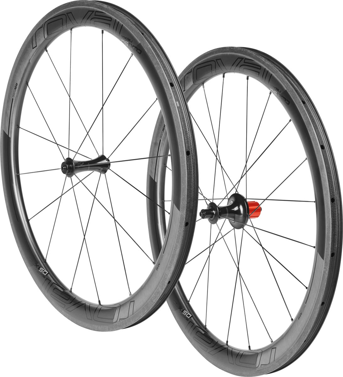 set zapletených kol Roval CLX50 Carbon Clincher satin carbon/gloss black