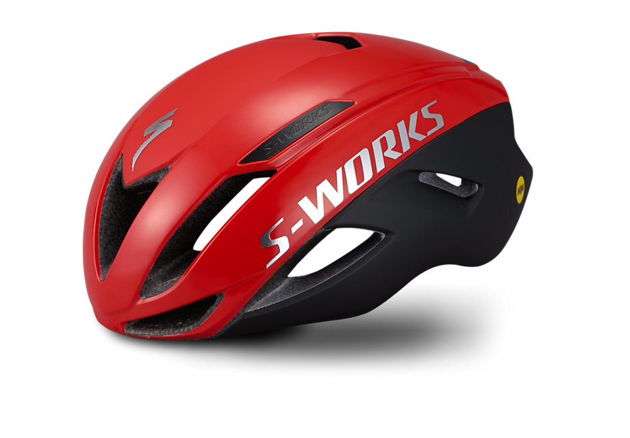 helma Specialized S-Works Evade II Angi Mips 2021 satin/gloss red/chrome
