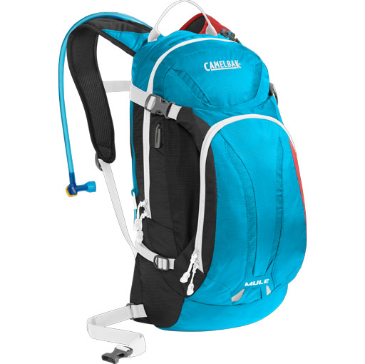 batoh Camelbak Mule charcoal/atomic blue/barbados cherry 9l