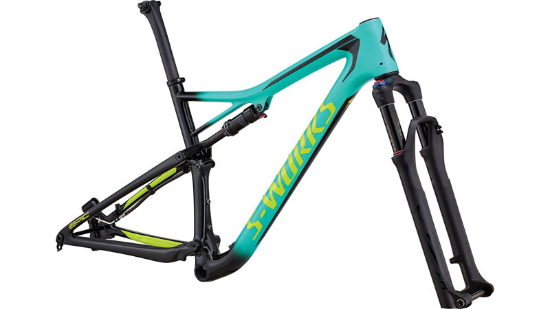 "rám Specialized S-Works Epic Carbon 29"" 2018 gloss satin mint/black/green"