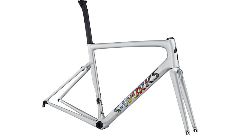 rám silničního kola Specialized S-Works Tarmac SL6 2018 gloss light silver/clean