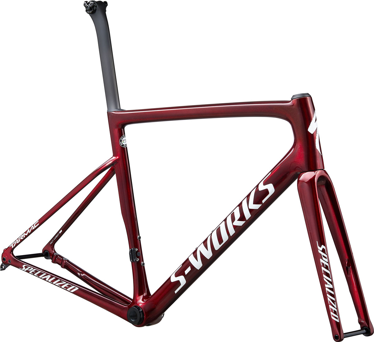 rám silničního kola Specialized S-Works Tarmac SL6 Disc 2020 gloss spectraflair/red/silver