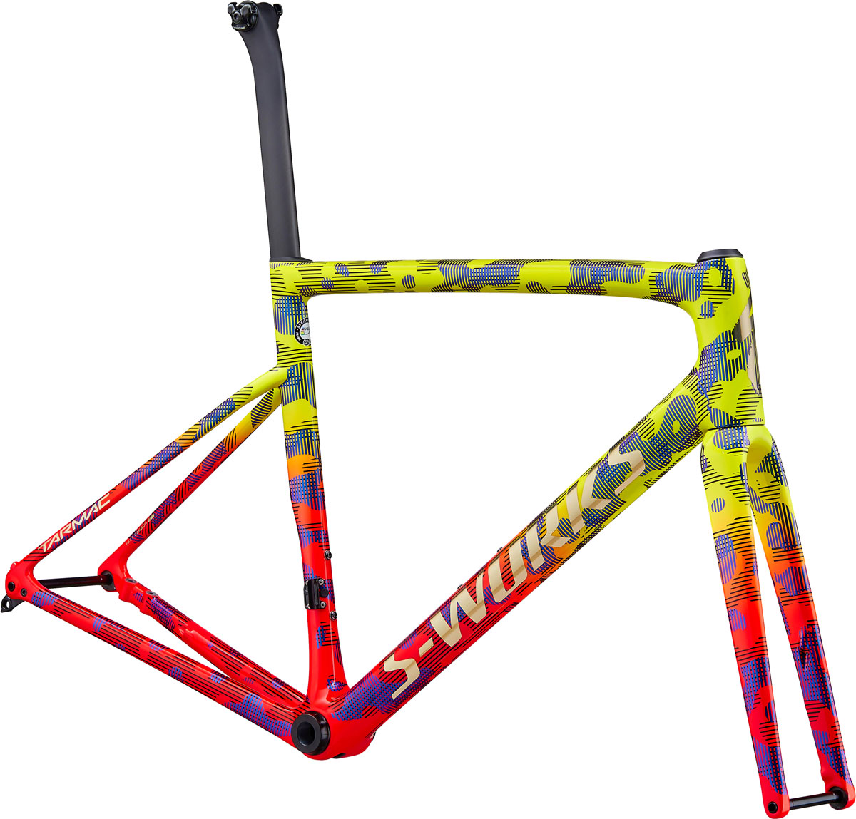 rám silničního kola Specialized S-Works Tarmac SL6 Disc 2020 gloss yellow/red/black