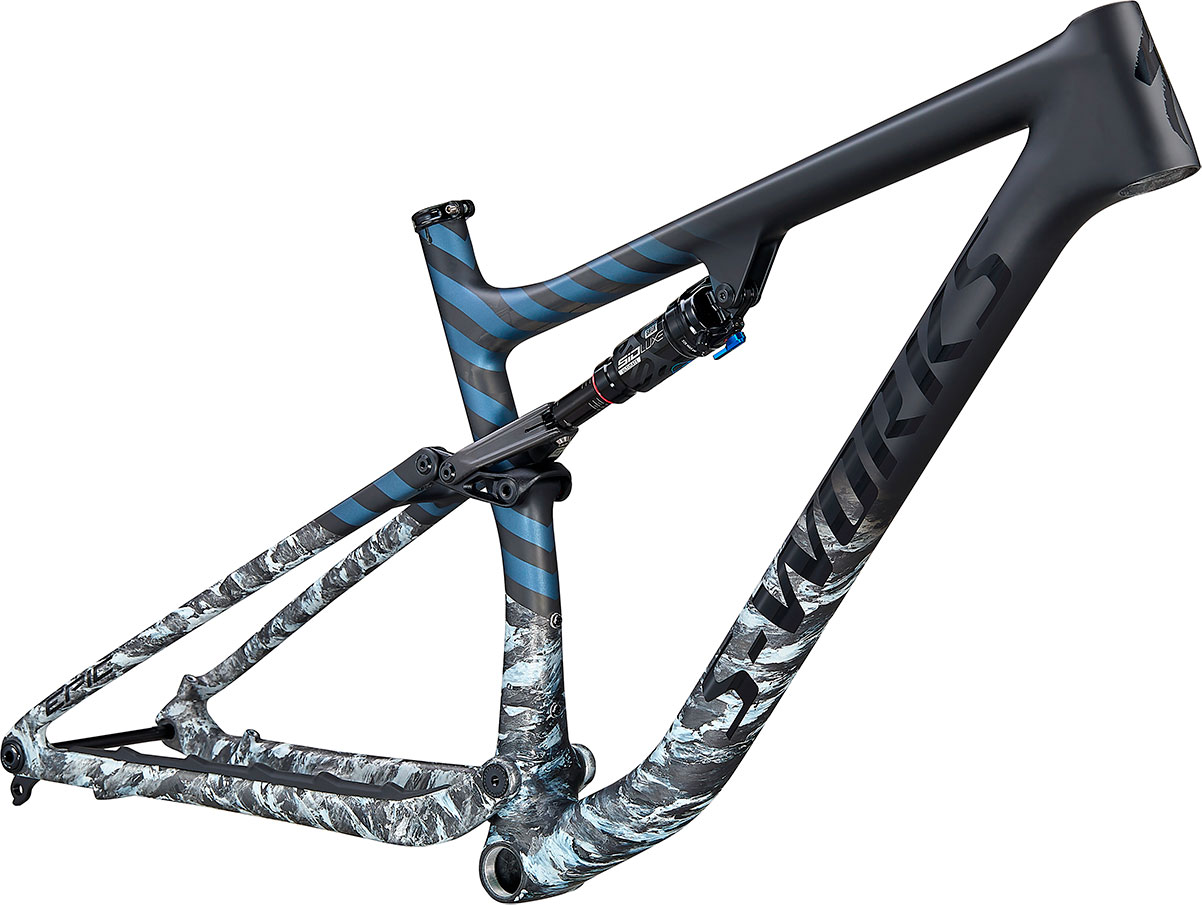 "rám horského kola Specialized S-Works Epic FS Evo 29"" 2021 satin flake silver/blue"