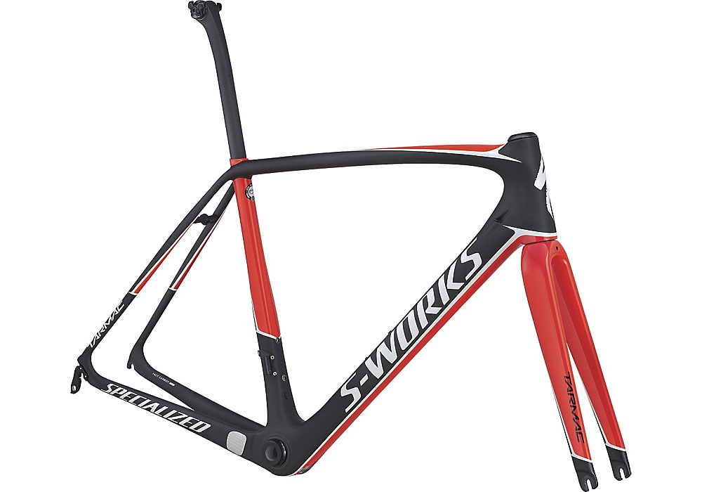 rám Specialized S-Works Tarmac 2017 satin carbon/rocket red/white
