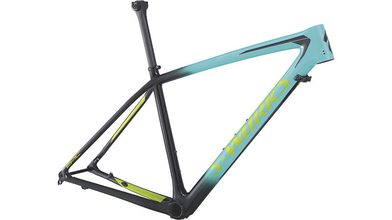 rám horského kola Specialized S-Works Epic HT 2018 gloss mint/black/green