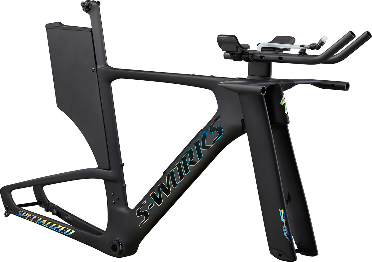 rám triatlonového kola Specialized S-Works Shiv Disc Module 2020 satin carbon/foil