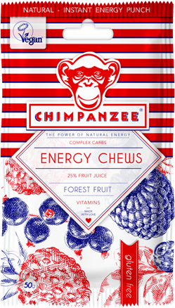 bonbóny Chimpanzee Energy Chews forest fruit 30g