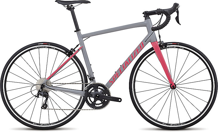 silniční kolo Specialized Allez E5 Elite 2018 satin gray/pink