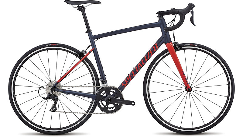 silniční kolo Specialized Allez E5 Sport 2018 satin navy/red