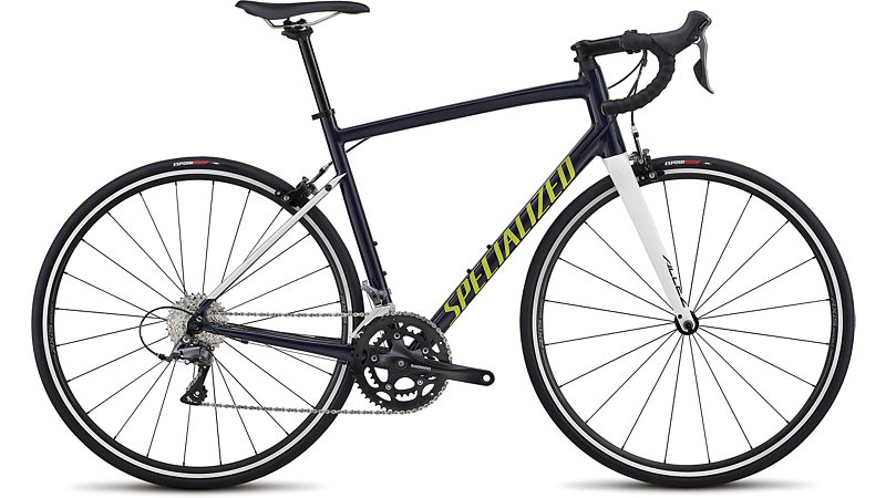 silniční kolo Specialized Allez E5 2018 gloss blue/white/lemon