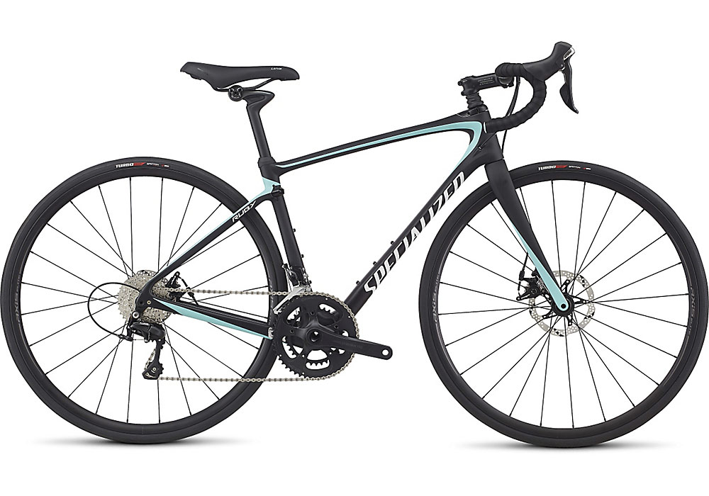 dámské silniční kolo Specialized Ruby Elite 2017 satin black/light turquoise/white