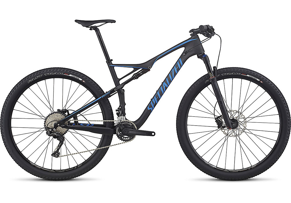 "horské kolo Specialized Epic FSR Comp Carbon 29"" 2017 satin carbon/neon blue"