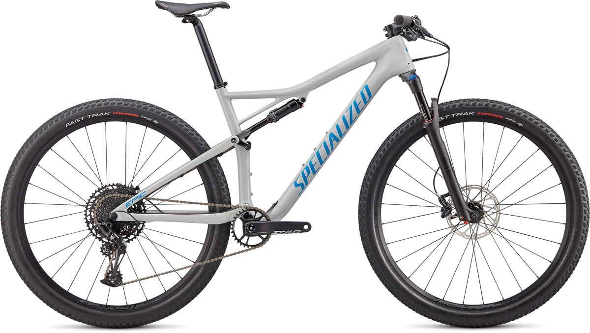 "horské kolo Specialized Epic Comp Carbon 29"" 2020 gloss dove gray/blue"