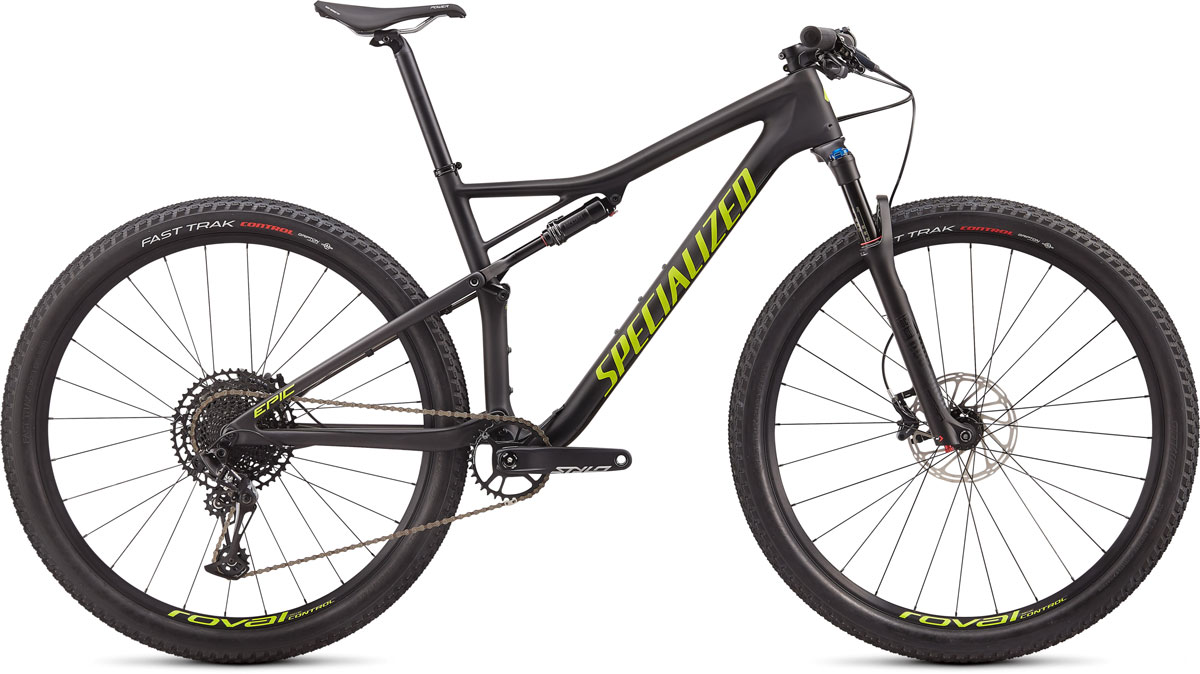"horské kolo Specialized Epic Comp Carbon 29"" 2020 satin carbon/hyper green"