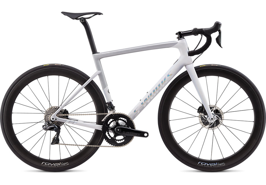 silniční kolo Specialized S-Works Tarmac Disc 2020 sagan - overexposed
