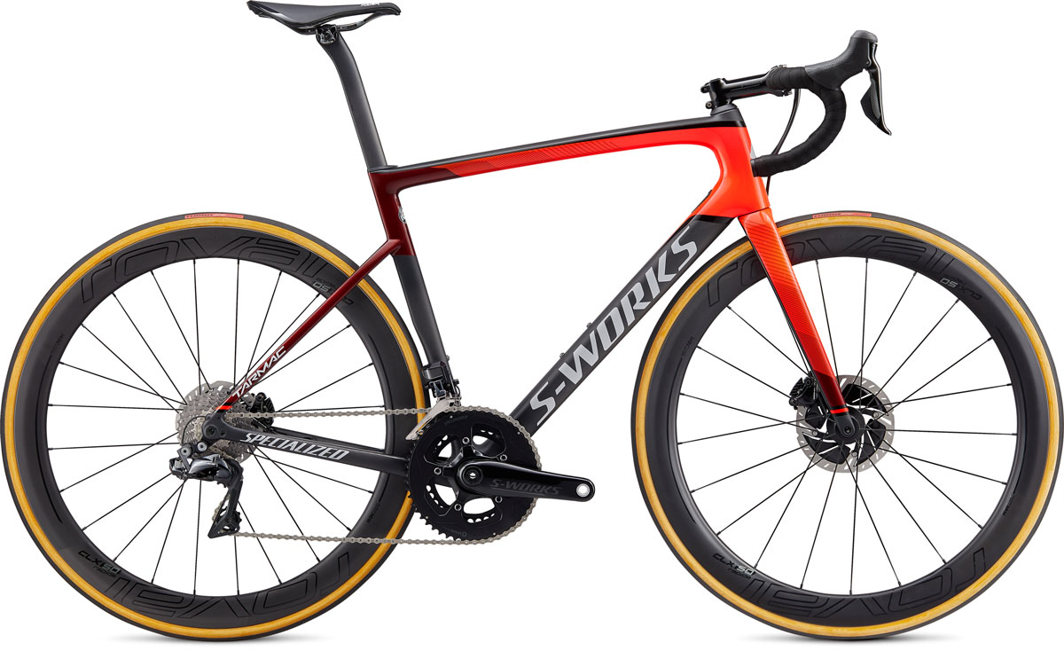 silniční kolo Specialized S-Works Tarmac SL6 Disc Di2 2020 gloss crimson/red