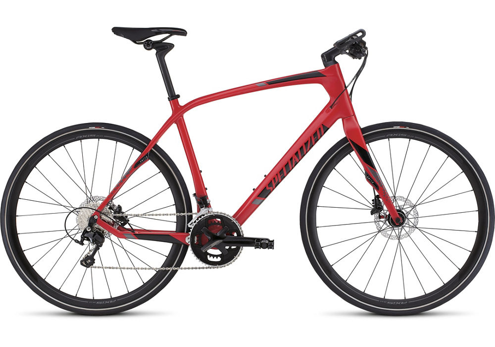 fitness kolo Specialized Sirrus Expert Carbon Disc 2016 red/black/charcoal