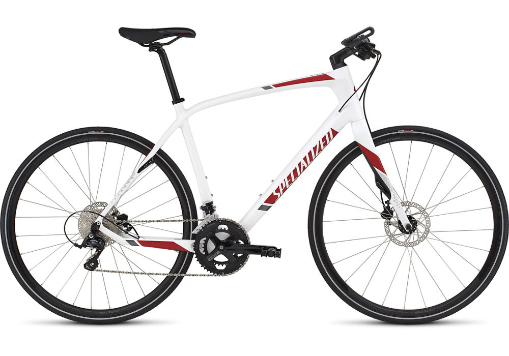 fitness kolo Specialized Sirrus Elite Carbon Disc 2016 white/red/charcoal