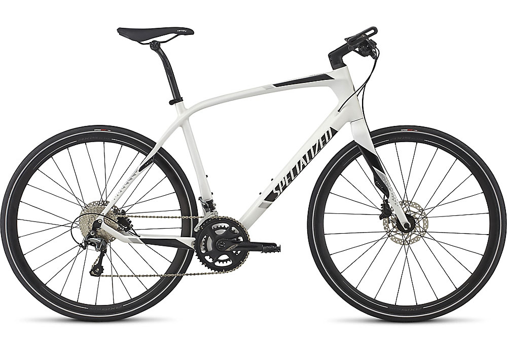 fitness kolo Specialized Sirrus Comp Carbon 2017 white silver/black/silver