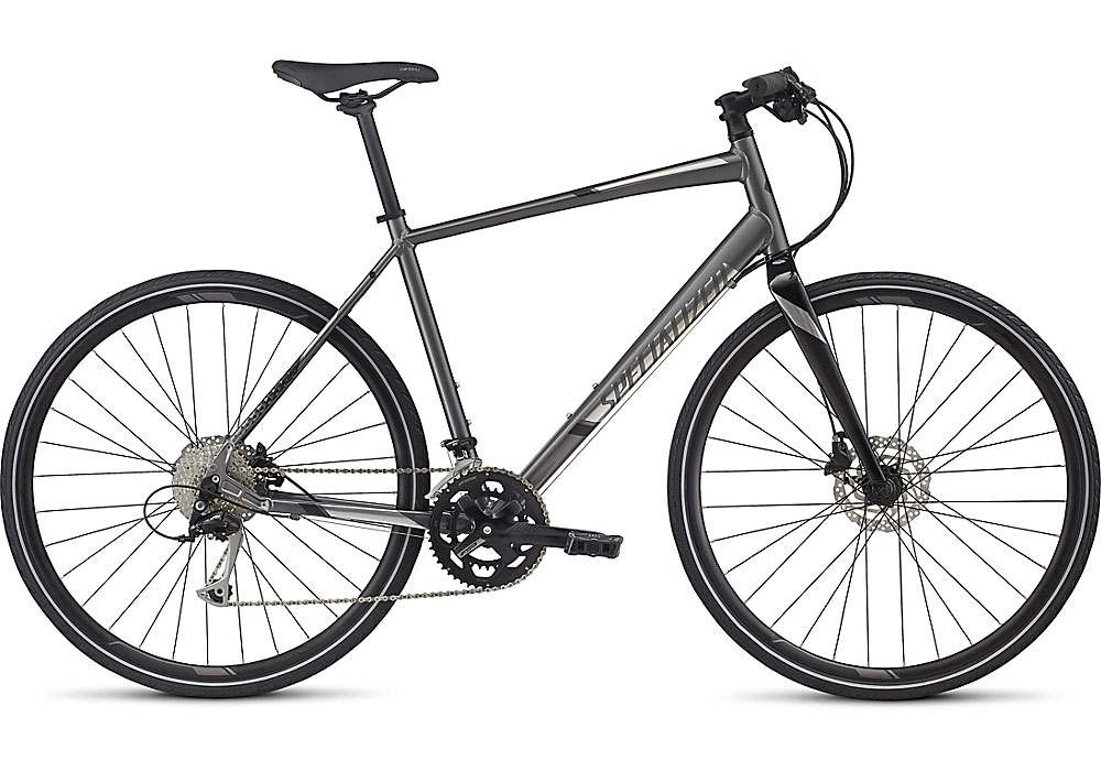 fitness kolo Specialized Sirrus Sport 2017 charcoal/chrome/black