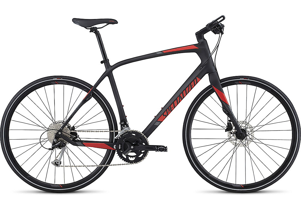 fitness kolo Specialized Sirrus Sport Carbon 2017 carbon/nordic red/charcoal