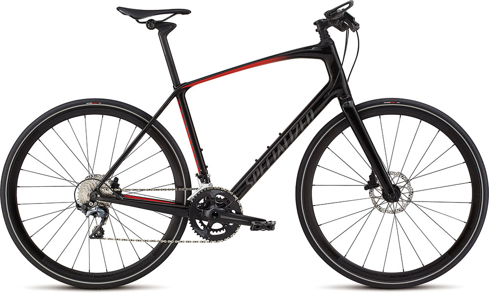 fitness kolo Specialized Sirrus Pro Carbon 2018 black/red/black