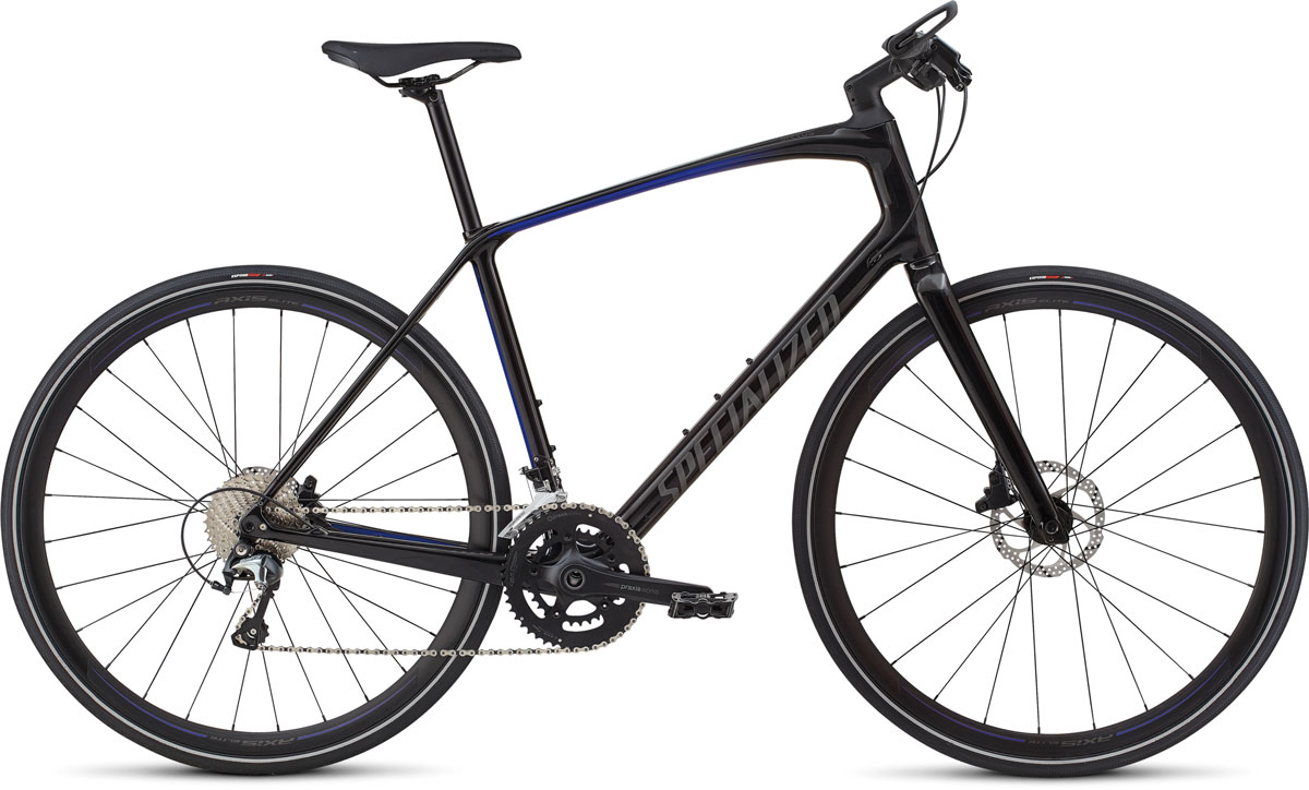 fitness kolo Specialized Sirrus Elite Carbon 2020 black/red/blue/charcoal