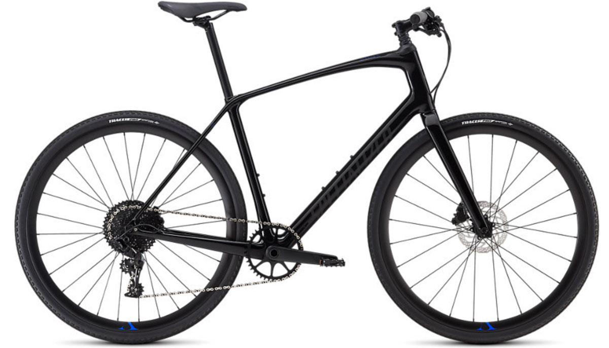 fitness kolo Specialized Sirrus X Comp Carbon 2020 black/blue/black