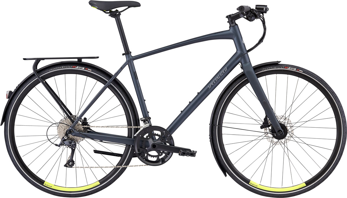 fitness kolo Specialized Sirrus Sport EQ 2020 Black Top LTD satin battleship/hyper