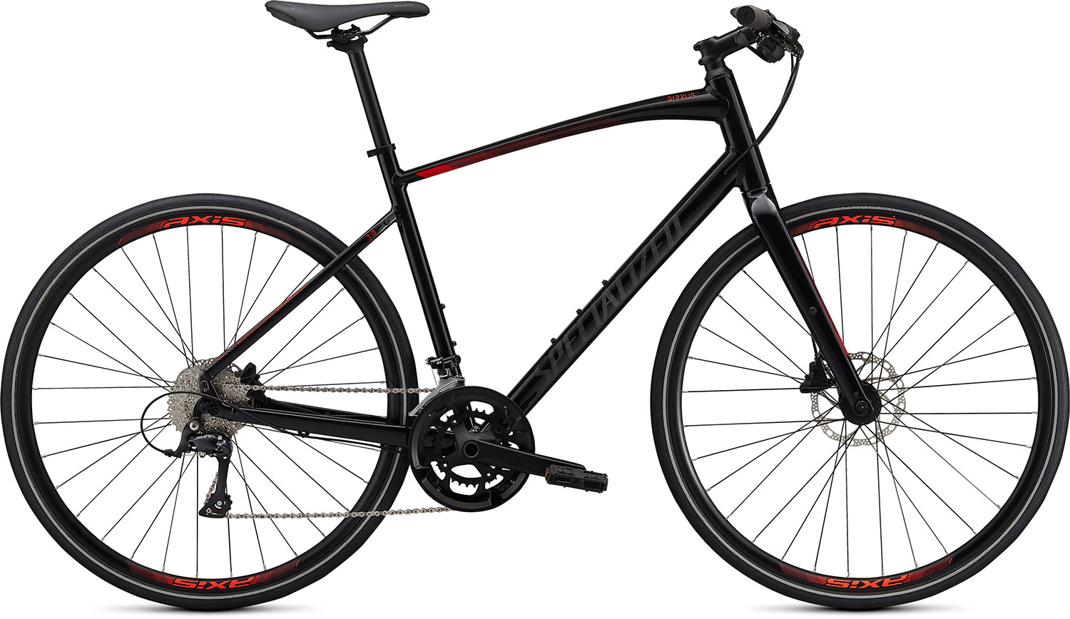 fitness kolo Specialized Sirrus 3.0 2020 gloss black/red