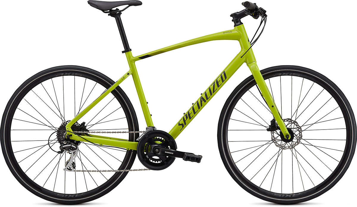 fitness kolo Specialized Sirrus 2.0 2020 gloss hyper green/black