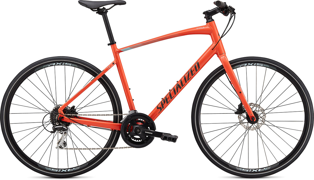 fitness kolo Specialized Sirrus 2.0 2020 gloss coral/blue