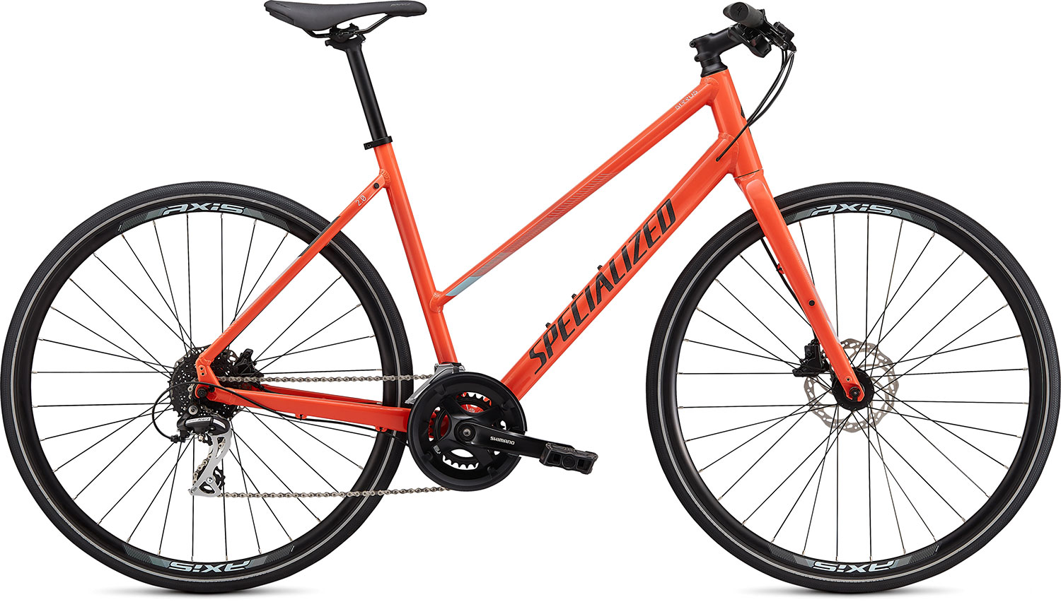 fitness kolo Specialized Sirrus 2.0 Step Through 2020 gloss coral/blue