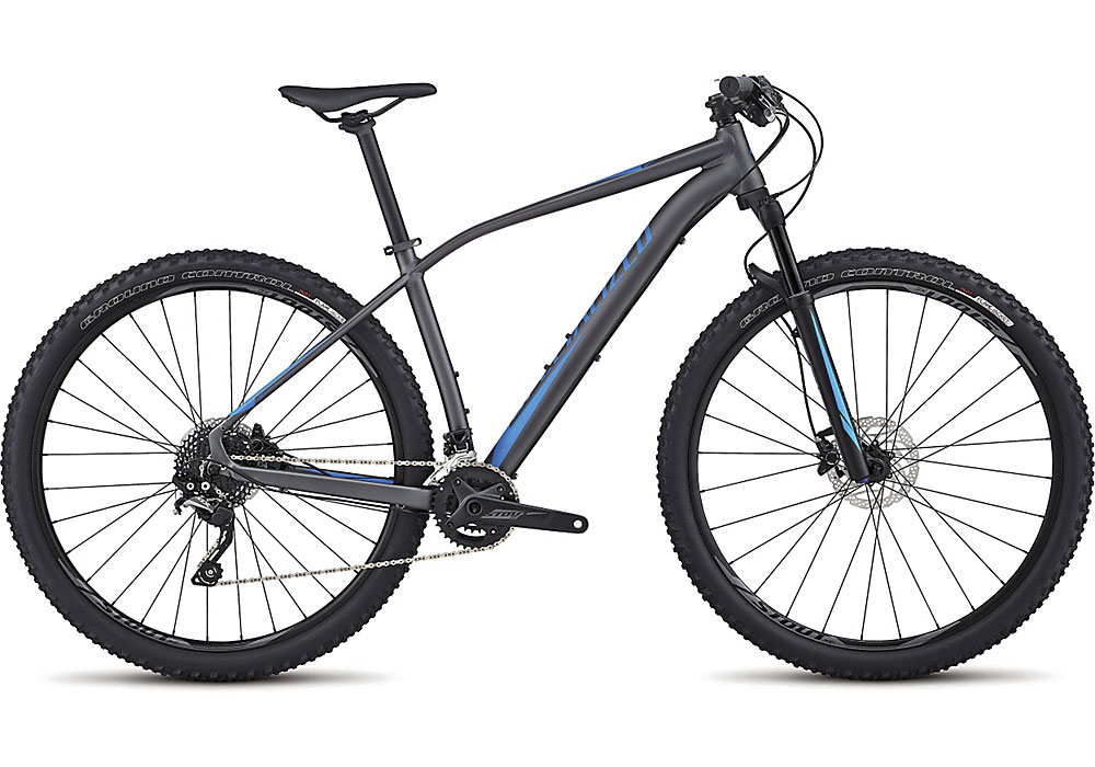 "horské kolo Specialized Rockhopper Expert 29"" 2017 satin graphite/neon blue"