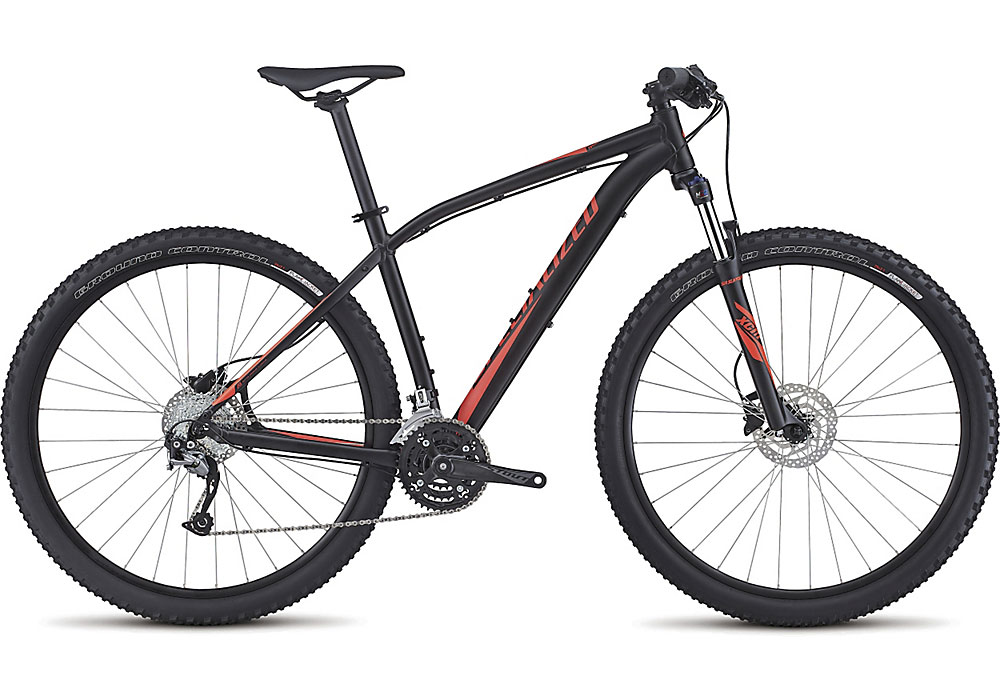 "horské kolo Specialized Rockhopper Sport 29"" 2017 satin black/rocket red"