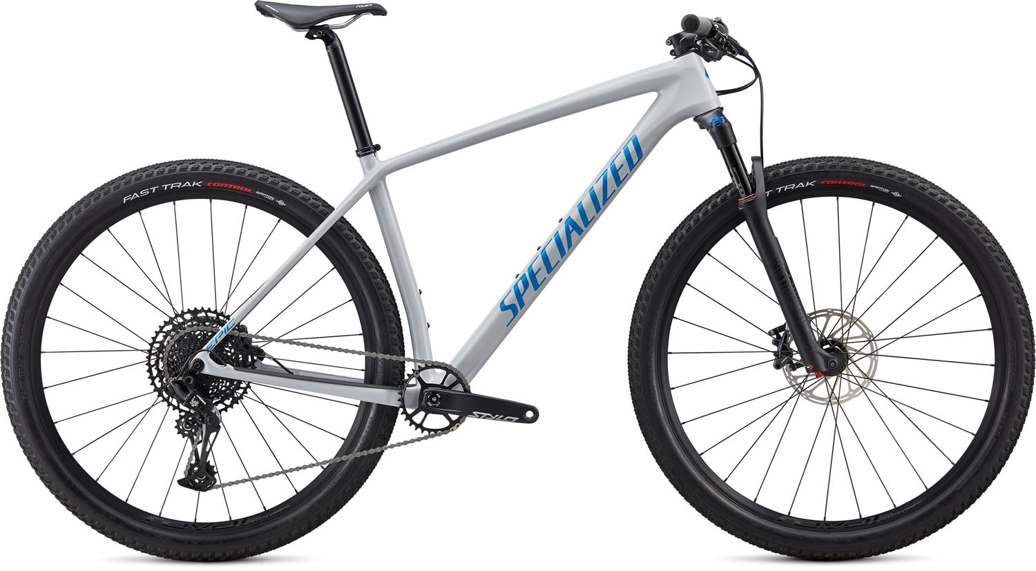 "horské kolo Specialized Epic HT Comp Carbon 29"" 2020 gloss dove gray/blue"