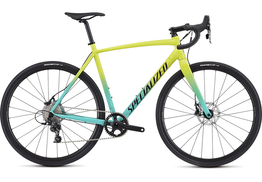 cyklokrosové kolo Specialized Crux E5 Sport 2019 gloss team yellow/mint