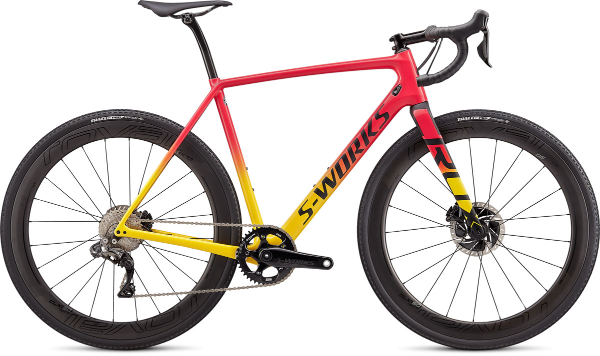 cyklokrosové kolo Specialized S-Works Crux Di2 2020 gloss yellow/pink/black