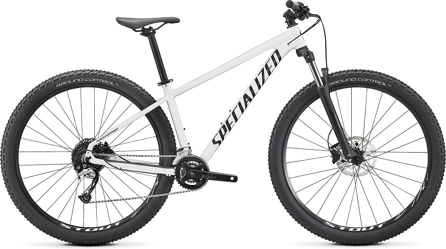 "horské kolo Specialized Rockhopper Comp 27,5"" 2x 2021 gloss metallic white/black"