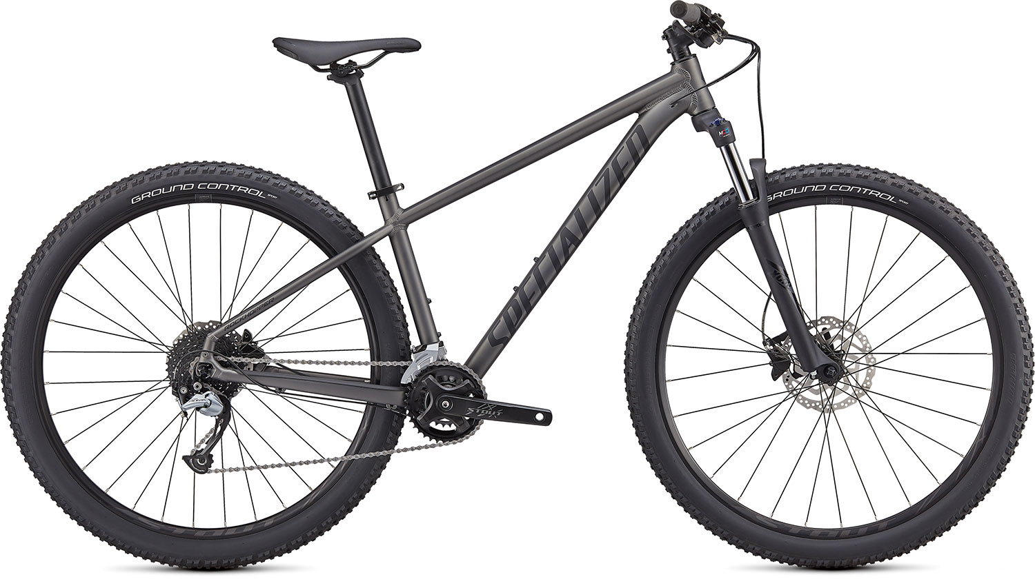 "horské kolo Specialized Rockhopper Comp 27,5"" 2x 2021 satin smoke/black"