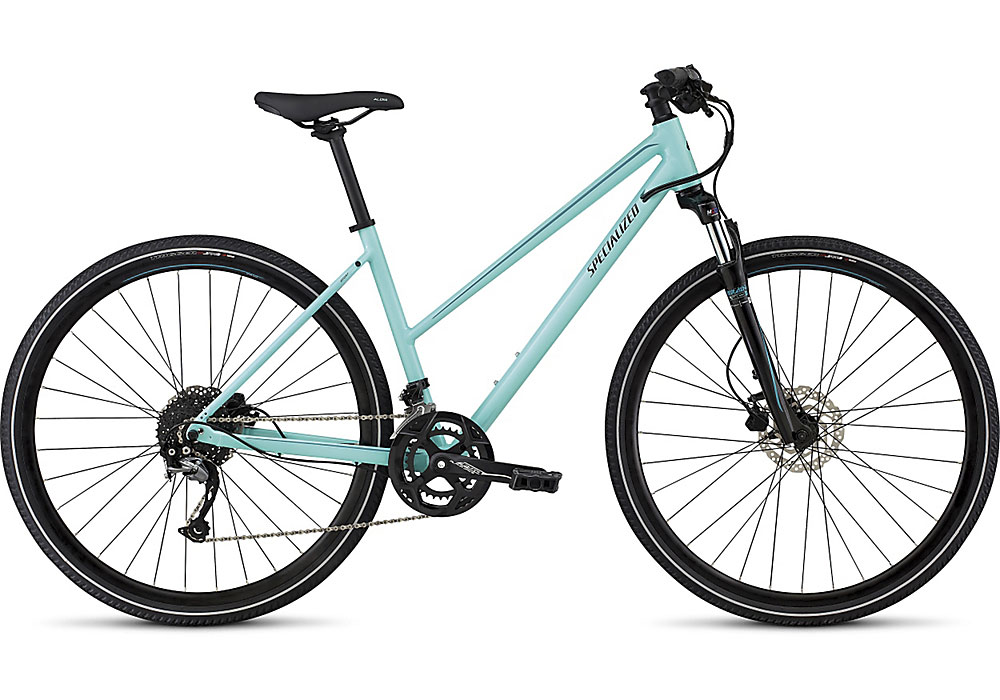 dámské trekingové kolo Specialized Ariel Sport Step Through 2018 light turquoise/turquoise/black