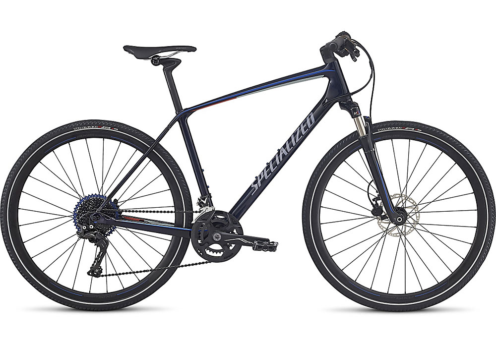 trekingové kolo Specialized Crosstrail Expert Carbon 2018 blue/blue/nordic red