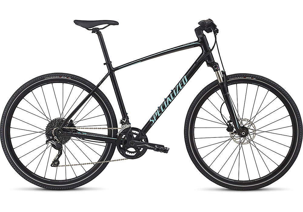 trekingové kolo Specialized Crosstrail Elite 2018 gloss black/charcoal/turquoise