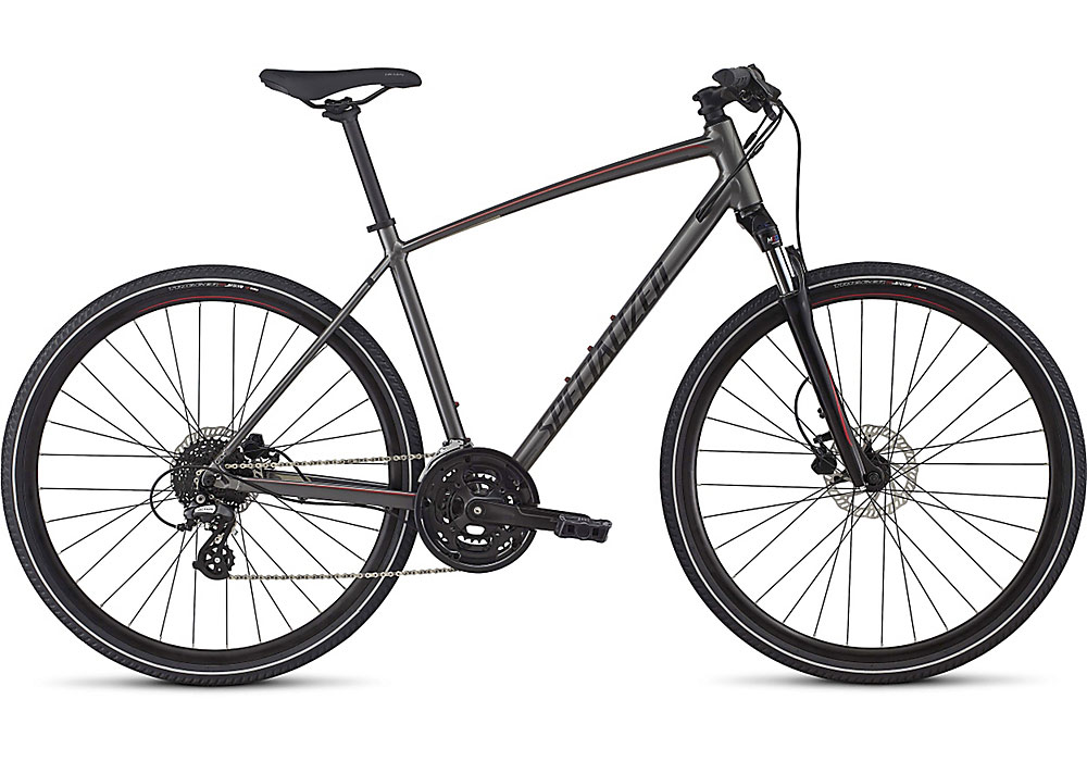 trekingové kolo Specialized Crosstrail Disc 2017 charcoal/candy red/titanium