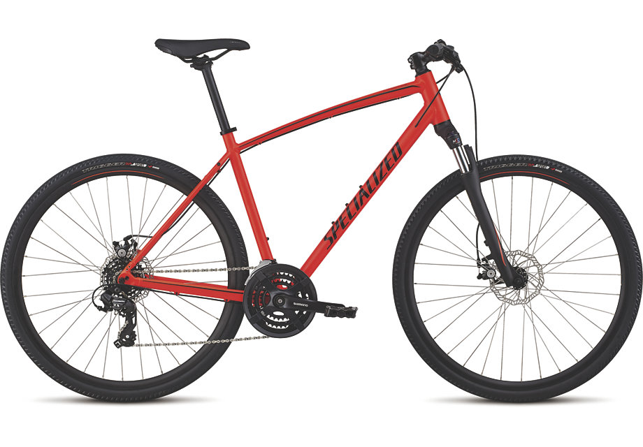 trekingové kolo Specialized Crosstrail mechanical disc 2019 red/limon/black